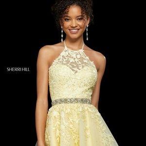 Sherri Hill 53153 SZ4 Yellow Flirty Cocktail Dress